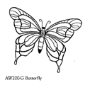 Large Butterfly Stamp AW200-G
