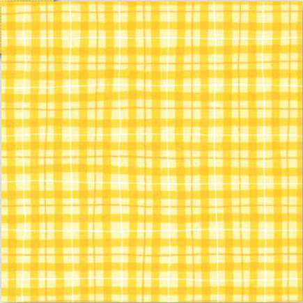 Lemon Drop Plaid Scrapbook Paper Doodlebug 233 Craft Products