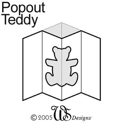 Small Teddy Pop-Out Tempting Template WS Designs - Craft Products
