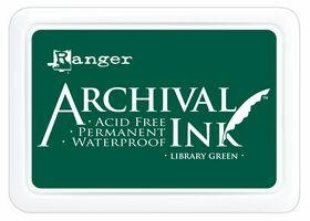 Library Green Archival Ink Pad AIP31475