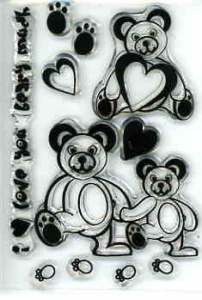Love Beary Much Stamps Clear Choice Mini R & L MIN-CCS122