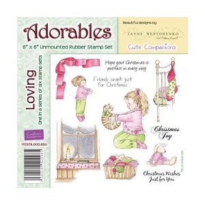 Loving Adorables Christmas Collection Rubber Stamp Set
