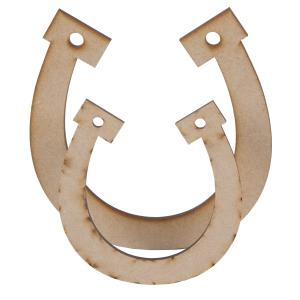 MDF Lucky Horseshoes Pack of 2 Creative Expressions CEMDFHORSE