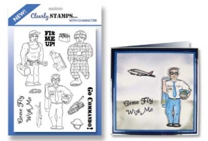 Men In Uniform 1 - Clearly Stamps with Character - Hunkydory Crafts