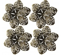 Metal Flowers Pack of 4 AC0144E