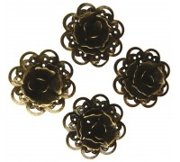 Metal Rose Flowers Pack of 4 AC0145E