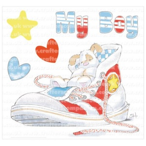 My Boy Strawberry Kisses Unmounted Rubber Stamp Set STBK-BOY