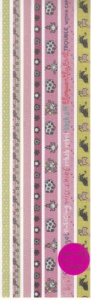 Naughty - Smirk Glittered Ribbon Stickers