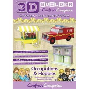 Occupations & Hobbies 3D Builder CD Rom - Crafters Companion