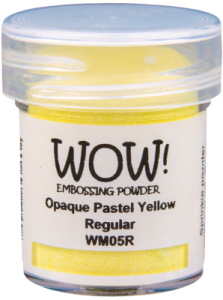 Opaque Pastel Yellow Embossing Powder 15ml WM05R