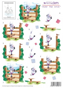 Over The Stile - William - 3D Decoupage Sheet - Design House