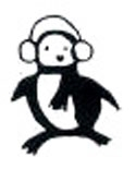 Penguin Wearing Ear Muffs - Wood Backed Stamp - Savvy Stamps