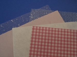 Pink Gingham Set -  A4 Mulberry Paper and A5 Mesh ASM003