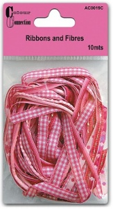 Pinks Ribbons and Fibres - 10 mts - Colour Connection AC0119C