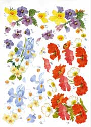 Poppies & More A4 Decoupage Sheet