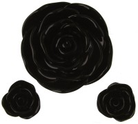 Resin Flowers Black AC7154