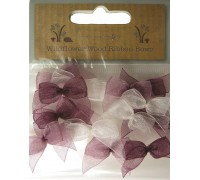Ribbon Bows Pinks and White 15pcs