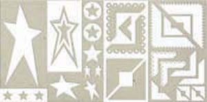 Rock Star Chipboard Accents - Rusty Pickle