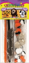 Safari Pom Pom Trio Kit - Creative Hands