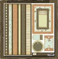 Seaweed Collection - Bands, Tags & Frames  Crate Paper S105