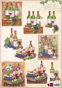 Shiraz Wine Decoupage Sheet Marianne Designs