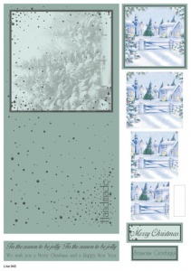 Snow Scene Pyramid Topper Concept Card Line 943