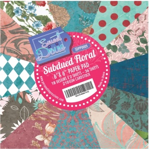 Subdued Floral 6'' x 6'' Paper Pad SDPP0005
