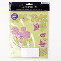 Summer Breeze Decoupage Kit - Wild Blossom - Dovecraft