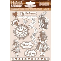 Alice Rubber Stamp Set Stamperia WTKCC185