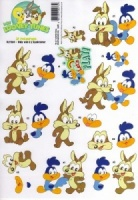 Baby Wile E & Roadrunner 3D Decoupage Sheet Baby Looney Tunes Collection