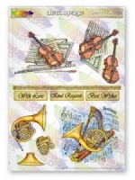 Beautiful Music Decoupage Sheet La Pashe Value
