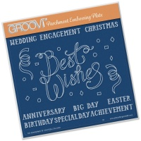Best Wishes Groovi Plate