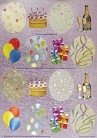 Birthday Toppers & Panels - 3D Die Cut Sheet - Dufex