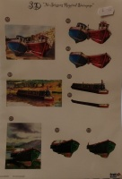 Boats Die Cut Decoupage Line 447