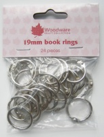 Book Rings 19mm 24 per pack WW2842