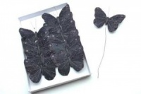 Butterflies Black 10cm wide Pack of 12