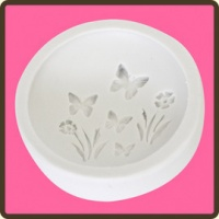 Butterfly Meadow Cupcake Topper Mould in Food Safe Silicone