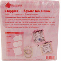 Chippies Square Tab Album Woodware JL705
