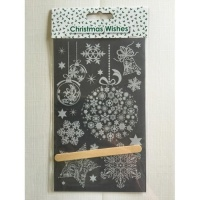 Christmas Lace Snowflakes Transfer Rub-Ons Sheet AC9415X