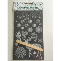 Christmas Lace Stag Transfer Rub-Ons Sheet AC9413X