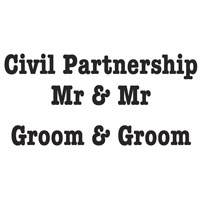 Civil Partnership Marriage Stamps Mr & Mr Woodware
