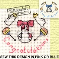 Congratulations Stitchlets Cross Stitch Kit 014-441stl