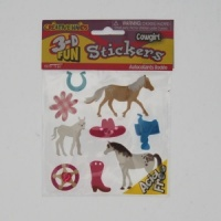 Cowgirl Stickers 3D Fun From Creative Hands - CH 5270