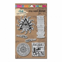 Curiosity Cling Stamps Andy Skinner Stampendous ASCRS04