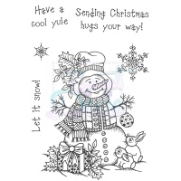 Cute Snowman Stamp Set Sweet Dixie SDCSA6079