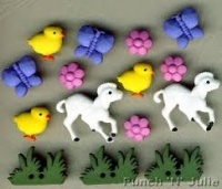 Easter My Little Chickadee Buttons