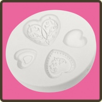 Elegant Hearts Embellishment Mould