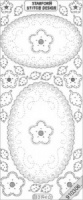 Embroidery Peel Off - Oval Doily - Silver