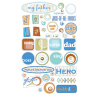 Father Sentiments - E-Z 3D Adhesive Epoxy Embellishments - Royal & Langnickel ROY3555