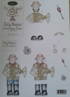Fishing Man Decoupage Jolly Nation
